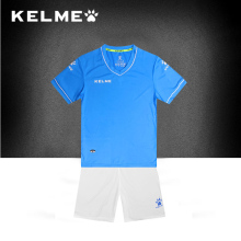 KELME 2017 Children Team Soccer Sets Cool Colors Design Short Sleeve Football Jerseys Training For Kids Sports Sets K15Z252