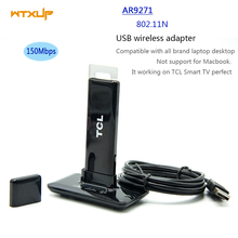 ATHEROS AR9271 802.11n 150Mbps Wireless card USB WiFi Adapter with USB 2.0 Extension Cable + Stand For TCL Smart TV