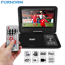FORNORM 11 Inch Portable DVD Player Digital Multimedia Player With Game radio Function 270 Degree Swivel Screen Card Read VCD(China)