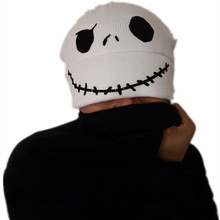 the Night Before Christmas Jack Skellington Skull Reversible Double-sided Wear Laplander Beanie Cap Adult Children Kid Warm Hat(China)
