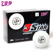 12 Balls/Lot 729 Friendship 3-Star New Material Seamless 40+ Plastic Table Tennis Balls ITTF APPROVED Poly White Ping Pong Balls