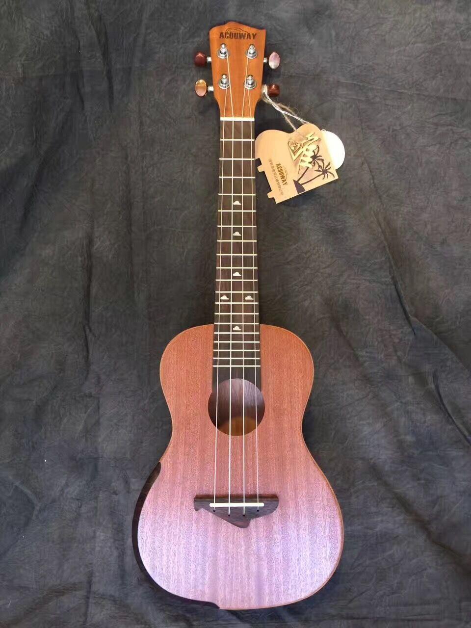 Acouway Ukulele Soprano Concert Ukulele 21 23 inch Sapeli wood uku Ukelele Hawaii guitar Stringed Musical Instrument<br>