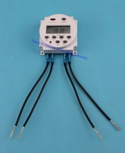 Weekly programmable electronic timer 110V AC 8A TO 16A with 4 pieces wire Digital time switching time controller CN101A
