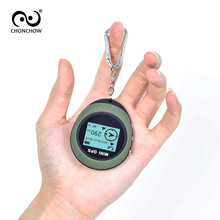 Free Shipping Handheld Keychain Mini GPS PG03 Navigation USB Rechargeable GPS Navigator Compass For Outdoor Sport Travel