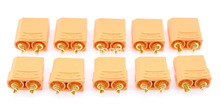 5 Pairs XT90 Connector 4.5mm Gold Plated Banana Plug  For Li-on Li Poly Battery