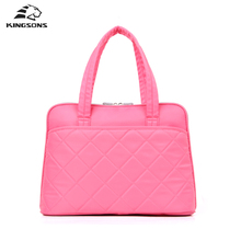 Kingsons Women Handbags Pink Waterproof 14.1 Inch Laptop Totes Ladies Shoulder Messenger Bag Ladies Girls Cases(China)