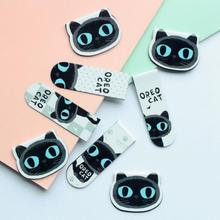 2 pcs/pack Cute Black Cat Magnet Bookmark Paper Clip School Office Supply Escolar Papelaria Gift Stationery(China)