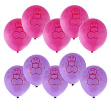 10 Pcs Funny Bachelor Party Supplies Latex Willy Balloons Wedding Hen Party Favor Stag Night Decoration Accessory 30cm Height