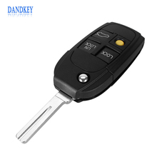 Dandkey New Modified 4 BUTTON REMOTE KEY FLIP KEY FOB CASE FOR VOLVO S40 V40 S70 C70 V70 S80 Free Shipping