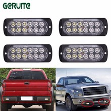 Whosesale! Ultra-thin LED High Power 12W Waterproof Police Lights Side Strobe Warning Light 12V-24V 12 LED Car Truck Emergency(China)