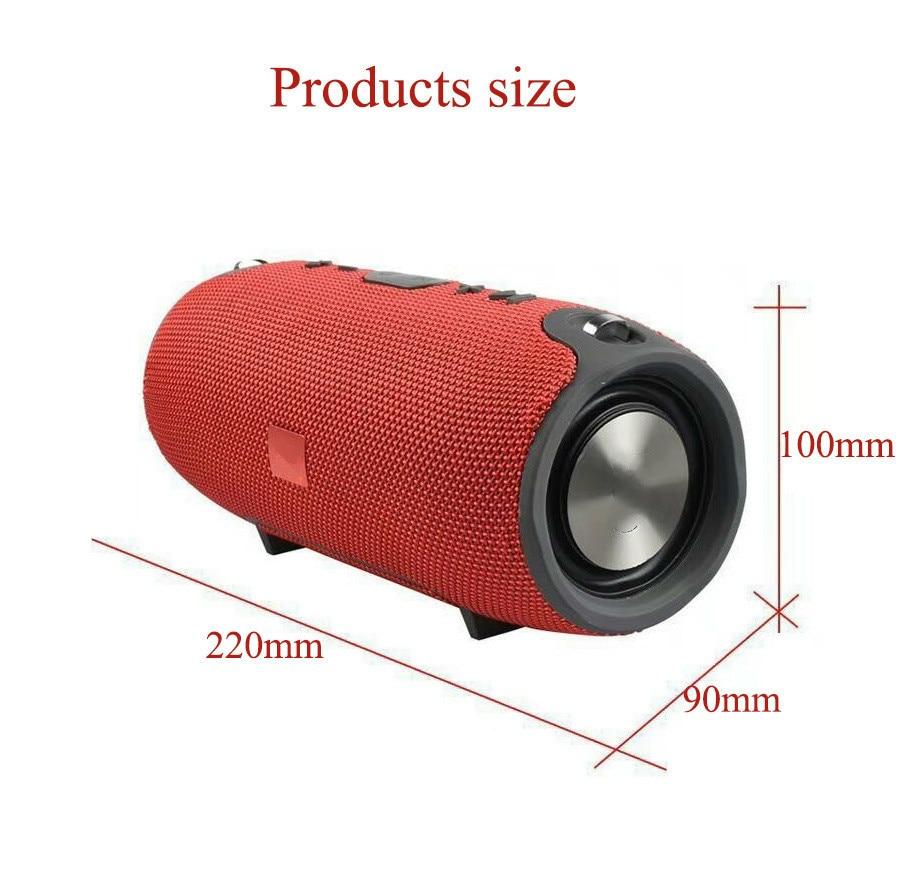 5 2018 Portable TF Card USB FM Radio Line in Wireless Fabric BT Speakers