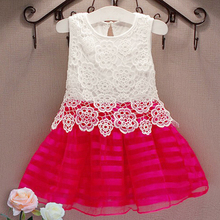 New 2017 summer autumn girl dress elsa lace dress stripe christmas girls clothes for 2-7Y princess girl party dress