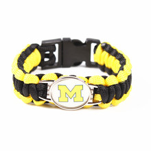 McNeese State Cowboy Custom Paracord Bracelet NCAA College Football Charms Bracelet Survival Bracelet, Drop Shipping!(China)