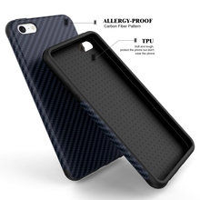 Luxury Elegent High Quality Carbon Fiber Soft Case For iPhone 5 5S SE Leather Skin 3D Texture Tire Defender Cover For iPhone SE(China)