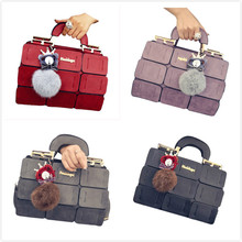 VSEN The new spring/summer women bag PU leather suture Boston bag inclined shoulder bag women leather handbags 4 colors