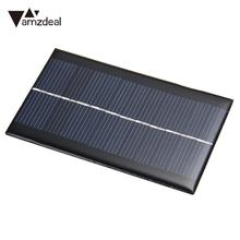 amzdeal New 10 pcs 6V 1W Solar Panel Module DIY For Light Battery Cell Phone Chargers Outdoor Powerbank Power Supply Solar Board(China)