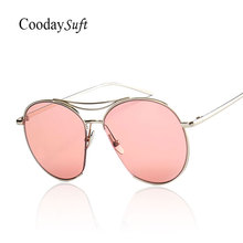 Coodaysuft Good Quality New 2016 Brand Designer Oversized Gradient Sunglasses Women Female Stylish Men Shades Lady Sun Glasses