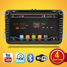 Android 7.1 for GOLF 5 Golf 6 POLO PASSAT CC JETTA TIGUAN TOURAN EOS 2 din 8 inch 1024*600 Wifi Radio Car dvd player GPS navigat(China)