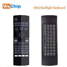 MX3 Air Mouse Backlit MX3 Mini Wireless Keyboard Smart Remote Control 2.4G IR Learning Fly Air Mouse Backlit For Android TV Box(China)