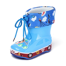 Kids Boots Girls Rain Boots Boys Winter Children Slip Shoes Plus Velvet Warm Child Water Shoes Baby Bootas Child Removable