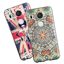 3D Stereo Relief Painting Soft Silicon Back Cover Colorful Case For LG Google Nexus 5x Nexus5X Phone Bag Case New