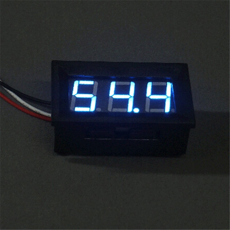 1 PC New Mini LED DC 0-100V Voltmeter Voltage Volt 3-Digital Display Panel Meter /3 Wires SA104 P50