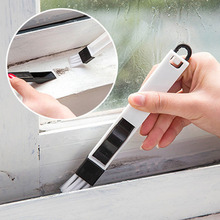 2 In 1 Polished Window Track Cleaning Brush Keyboard Cranny Dust Shovel New White Color 1Pc(China)