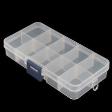 Portable Home Empty Storage Case Box 10 Cells Convenient for Nail Art Tips Gems #4801