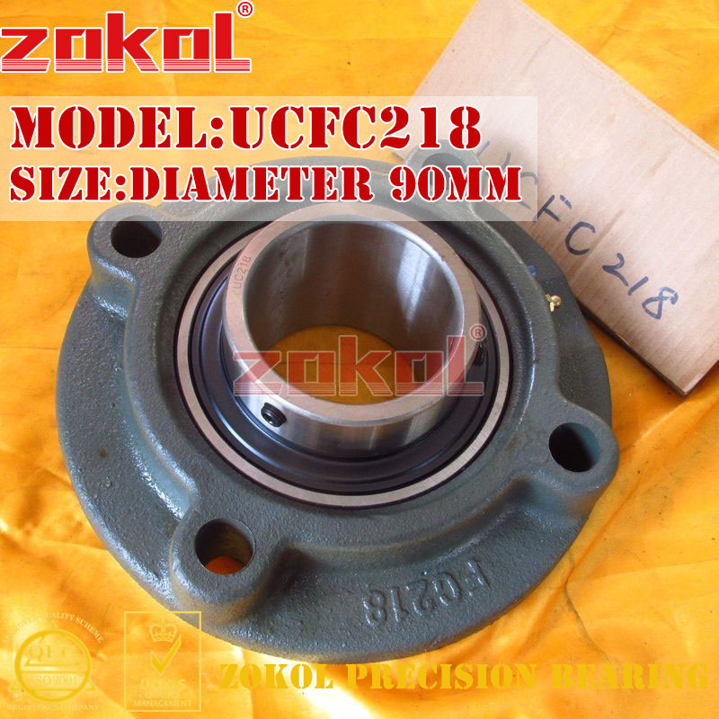 ZOKOL bearing Flange Cartridge Bearing Units UCFC218 TY90518Y Pillow Block Ball Bearing diameter 90mm<br>