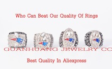 Who Can Beat Our Rings, Super Bowl 4 Years Sets 2001/2003/2004/2014 New England Patriots Championship Ring(China)