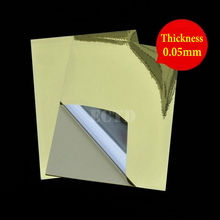 50 Sheets Glossy Gold PET Sticker A4 Size 297*210mm Waterproof For Laser Printer(China)