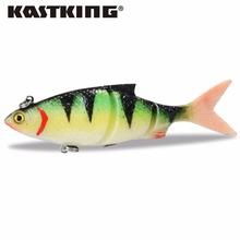 KastKing Brand New 3 pc/lot Fishing Soft Lures Artificial Bait Fishing Tool 3D Lure Deep Water For Saltwateer & Freshwater