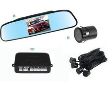 Wireless Auto Visible Parking sensor Monitor camera Backup Assistance,Wireless Car Rearview reverse alarm radar parking System