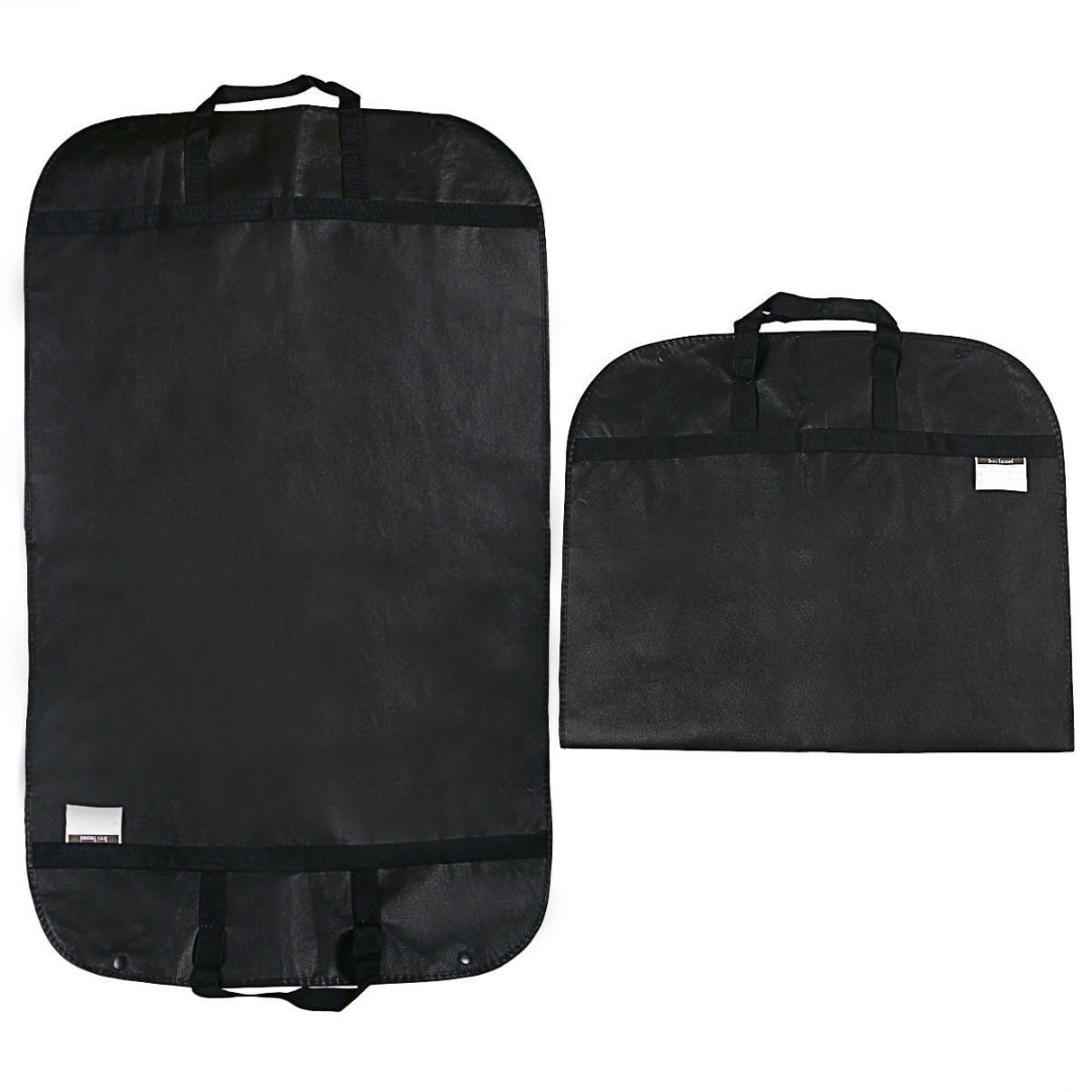 New Black Suit Dress Garment Bag Dust Covers Non Woven Waterproof Garment Bag Protector Home Travel Clothing Hanger Storage Bag