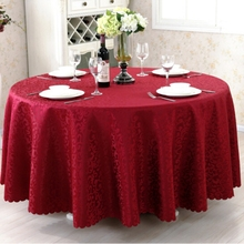 Double Hook Rectangle Small Polyester Jacquard Red Hotel Banquet Tablecloths Table Round Cloth Mark Place Tablecloth Christmas(China)