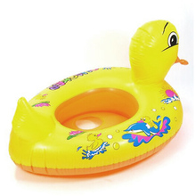 Yellow Duck Pool Design Cute Kids Baby Child Inflatable Swimming laps Pool Safe lounge Swim Ring Seat Float Boat Water Sports(China)