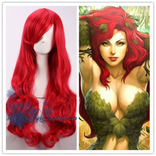 Movie Batman Poison Ivy Red wig Comic-con Pamela Lillian Isley  Cosplay Red Hair costumes