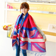 New Brand scarf women winter warm Tassel Cheap Scarves Wrap Thick scarf Shawl ladies scarf 200cm*70cm(China)