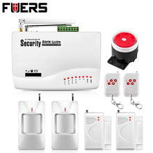 GSM10A Two antenna Wireless/Wired Home burglar alarm GSM Voice Alarm System 900/1800/1900Mhz Auto dial remote arm/disarm(China)