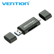 Vention SD Card Reader карта памяти картридер Micro USB 2.0 карт ридер Мини Micro SD памяти TF OTG Картридер для телефон с OTG fuction & PC(China)