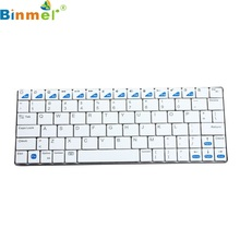Beautiful Gift Brand New White Mini USB Handheld Bluetooth 3.0 Wireless Keyboard for ipad smartphone PC Wholesale price Dec28