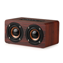 Wooden Bluetooth 4.0 HiFi Speakers 10W Dual Loudspeakers Surround Mini Portable Wireless Computer Wood Speaker for Phone