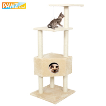 Pawz Road Domestic Delivery H131 Cat Climbing Funny Toys Scratching Solid Wood for Cats Climbing Frame Good Quality Pet Supplies(China)