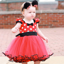 1 2 3 4 5 Year Baby Girl Birthday Party Dress Children's Fancy Minnie Mouse Costume For Girl Toddler Minnie Outfits Red Clothes