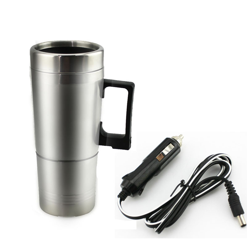 Electric Car Thermal Cup 12V Travel Water Botter Heater Stainless Steel Handgrip Thermos Vacuum Flask Kettle Insulation Mug Cup(China)