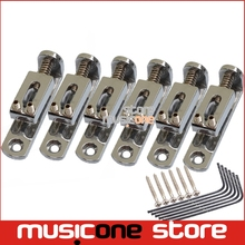 6 String Tooyful Solo Single Guitar Bridge with Wrench Screw for 6 String Guitar Cigar Chrome