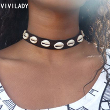 VIVILADY Trendy Handmade Natural Shell Chokers Necklace Women Summer Bohemia Rope Beach Holiday African Jewelry Gift(China)