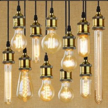 25W 60W 40W Vintage Antique Retro Style Lighting Tungsten Filament Edison Bulb & Lamp holder E27 220V A19 G125 ST64 T185 G80