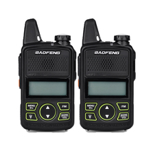 2PCS Baofeng Mini Type Handheld Walkie Talkie Fashion styles two way radios BF-T1 400-470 MHZ USB Rechargable(China)