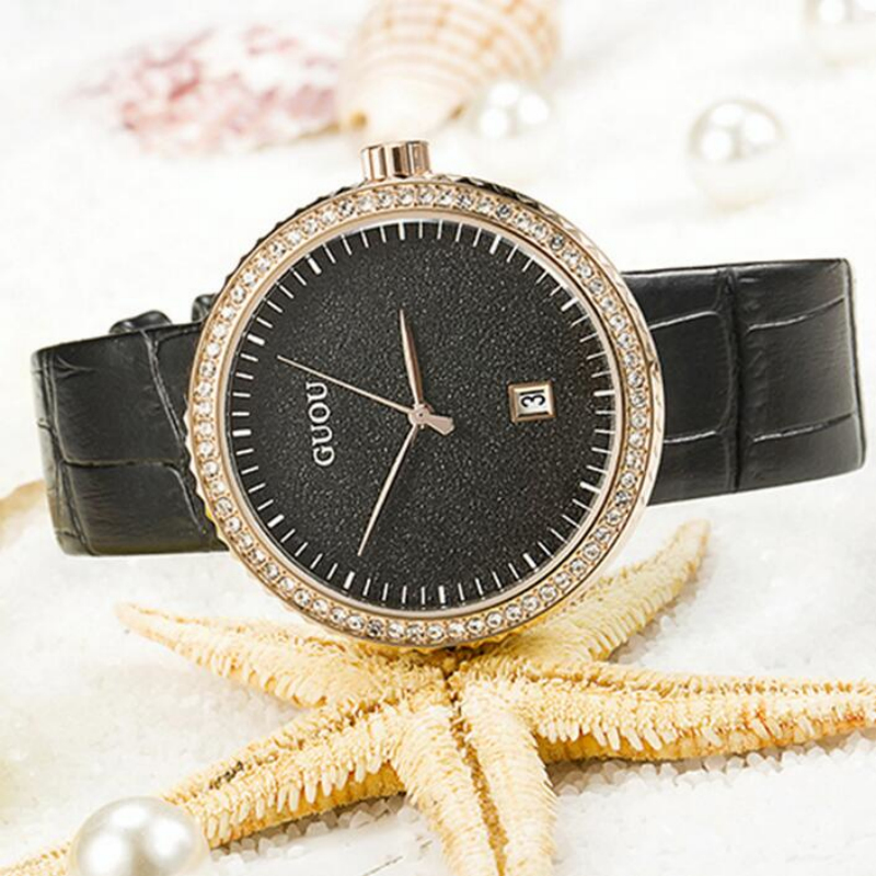 GUOU Luxury Shiny Diamond Watches Women Watches Fashion Rhinestone Womens Watches Clock saat bayan kol saati relogio feminino<br>